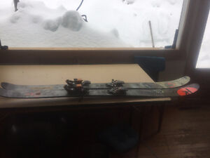 TOURING SKIS, S7 SKIS, G3 RUBY BINDINGS WITH BRAKES