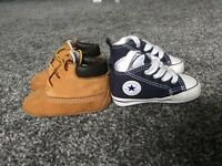 Baby trainer bundle Timberlands & Converse