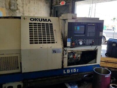 Used Okuma Lb-15 Cnc Lathe 1994 Tailstock 10 Inch Chuck Cheap Lathe