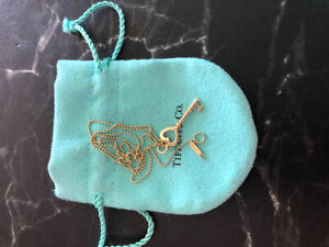 Tiffany and co 18k yellow gold necklace vintage