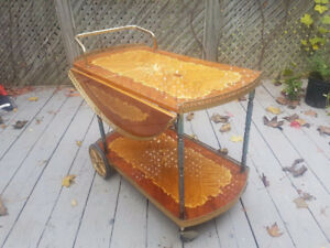 Exquisite Vintage Tea Cart Table