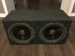 "2 Pioneer TS-W301F 12"" Subwoofers in a dual 12"" sealed box $100"