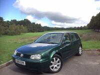 2001/51 VW VOLKSWAGEN GOLF 2.8 V6 4-MOTION , 6-SPEED MANUAL, 5-DOOR***CREAM LEATHER***FSH***LONG MOT