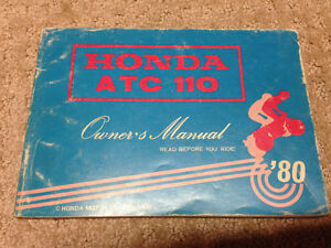 1980 Honda atc 110 owners manual