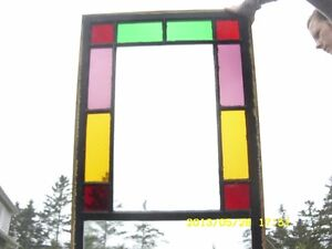 2 x Stained glass windows