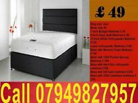 New king size Divan Bed With Budget Matrs . Single, Small Double , kingsize /Bedding