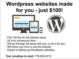 WordPress websites made for you Halifax - just $100