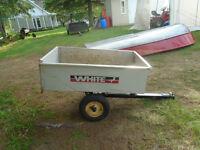 Remorque WHITE 30`` X 48`` pour tracteur a gazon