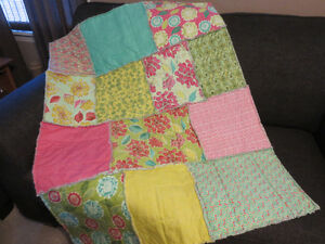 New Home-made Raggy Baby Quilt