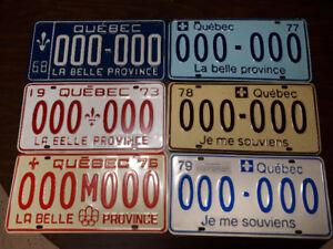 Plaques d immatriculation antique SAMPLES 000-000