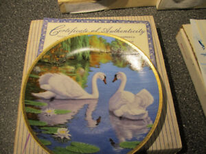 """""""The Swan"""" collectible plate."""