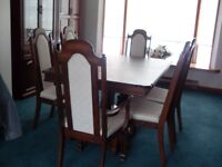 Solid Oak Dining Set & China Cabinet