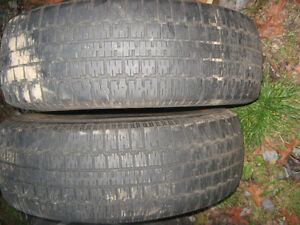 2 Winter Trac Nordic Winter Tires 205/75 R14 - half worn