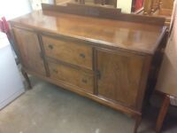 VINTAGE MAHOGANY SIDEBOARD PROBABLY DATING FROM 1920's or 1930's