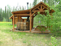 Timber Frame picnic shelter