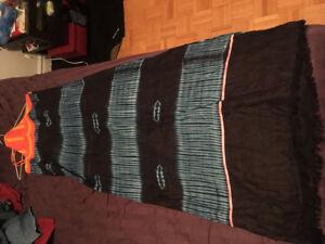 Longue Robe indigo taille 40 / Long indigo dress size 10