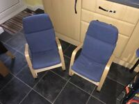 Children's poang chairs x 2