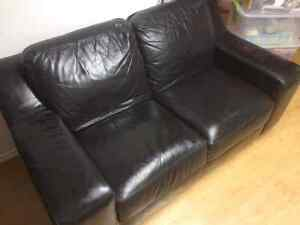 Leather love seat  Strathcona County Edmonton Area image 2