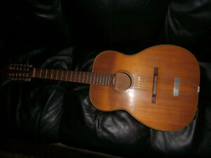Vintage 12 string acoustic guitar