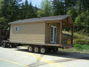 New 10' x 18' & 10' x 24' Cabins with 6' covered decks.