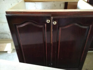 Free - Gently used kitchen cupboards.