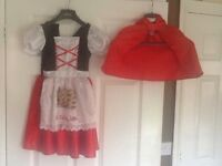 Little red riding hood outfit aged 5/6