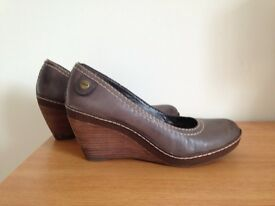 Clarks grey wedges size 6