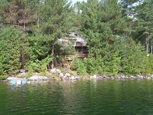 chalet bord de l eau, lac clair, saint côme