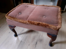 Antique Solid Wood Foot Stool