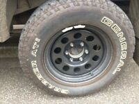 4x General Grabbers AT2 with steel alloys as seen in pictures.