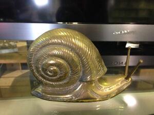 Vintage Brass Snail $750