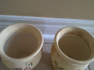 Brand new set of 2 clay fruit theme planter pots vase London Ontario image 3