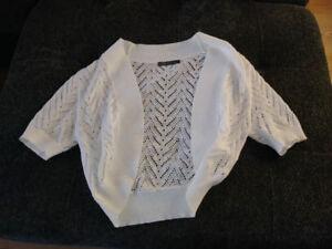 White ladies sweater