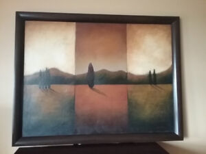 Framed canvas oil print