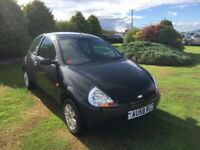 2008 58 Ford Ka 1.3 Style Petrol Black 3 Door MOT SEP 2019.