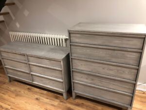 5-Drawer Chest & 6-Drawer Double Dresser For Sale