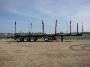 New Superior Quad Axle Logging Trailer