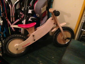 Wooden run bike