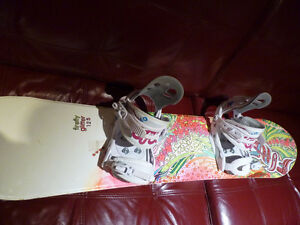 Girls Snow Board c/w Bindings