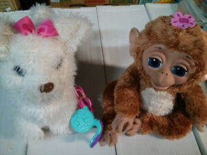 FurReal Friends Cuddles the Giggly Monkeyand GO GO My Walking