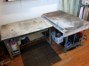 Rolling shop table / work station / tool bench