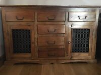 Indian wood sideboard unit