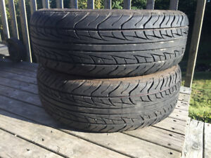 Two Uniroyal 195/65R15 Summer Tires