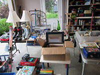 Large family garage sale-downsizing-sports & household items