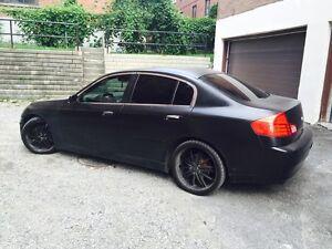 Infiniti G35 all black mags