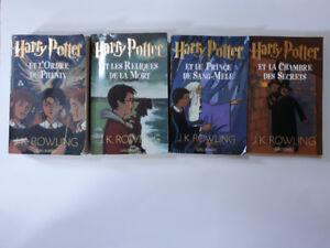 Harry Potter paperback books - Harry Potter livres de poche