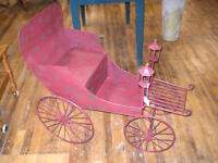 Unique Metal Flower Cart Stand Wagon Distressed London Ontario Preview
