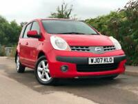 2007 NISSAN NOTE 1.4 PETROL MANUAL , 57000 MILES , NEW MOT , 11 STAMPS