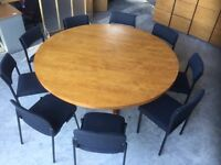Large round committee table