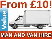 CHEAPEST MAN AND VAN BEDFORD REMOVALS HOUSE HOME FLAT BED SOFA OFFICE COURIER